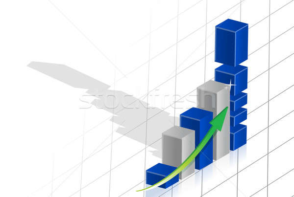 Business graph 3d over grid Stock photo © alexmillos