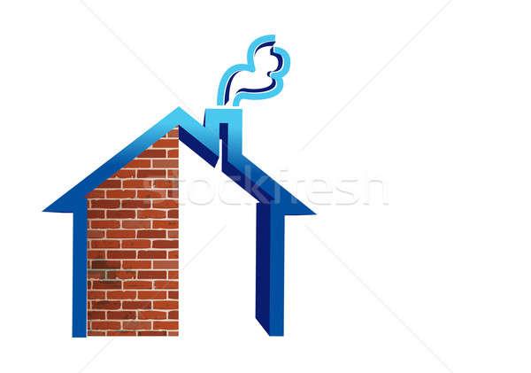 Real estate house building Stock photo © alexmillos