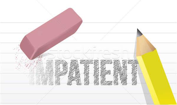 Erase impatience illustration design concept Stock photo © alexmillos