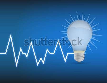 idea bulb up and down business arrow chart Stock photo © alexmillos