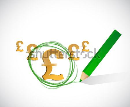 Pound profits. up and down arrow graph isolated Stock photo © alexmillos