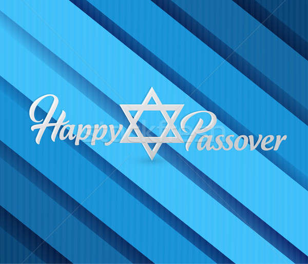 Happy passover sign card illustration Stock photo © alexmillos