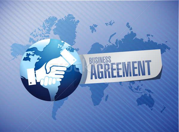 international business agreement handshake concept Stock photo © alexmillos