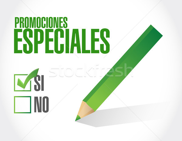 Stock photo: no special promotions in Spanish sign concept