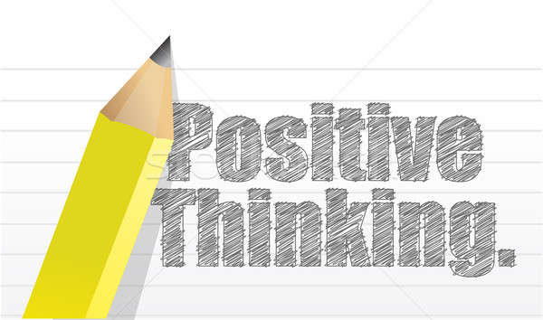 positive thinking message written on a notepad Stock photo © alexmillos