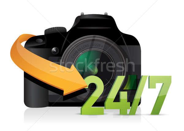 Câmera 24 serviço apoiar ilustração projeto Foto stock © alexmillos