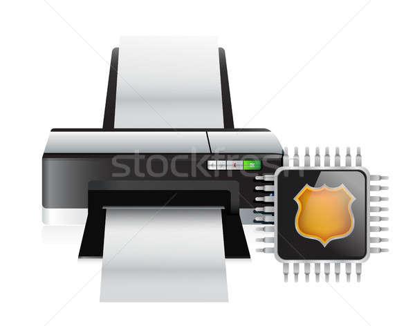 printer and storage chip Stock photo © alexmillos