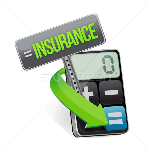 insurance or risk concept with calculator Stock photo © alexmillos