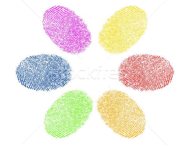 Dedo colores diversidad diseno pintura Foto stock © alexmillos