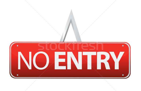 No entry sign illustration design Stock photo © alexmillos