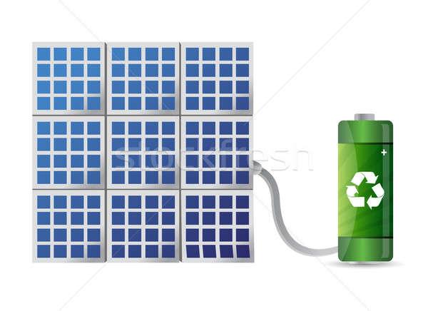 solar energy concept illustration design Stock photo © alexmillos