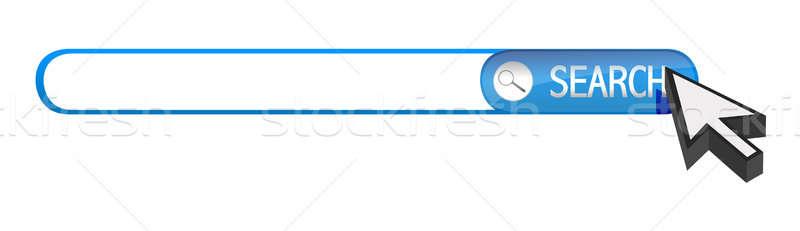 Zoek bar cursor illustratie ontwerp witte Stockfoto © alexmillos