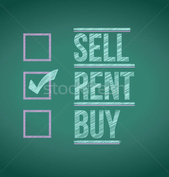 rent over other options illustration design background Stock photo © alexmillos