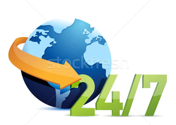 Wereldbol alle dag dienst illustratie ontwerp Stockfoto © alexmillos