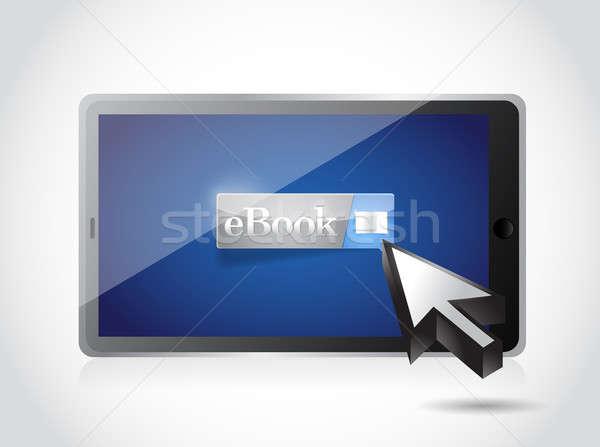 Ekönyv tabletta illusztráció terv fehér laptop Stock fotó © alexmillos
