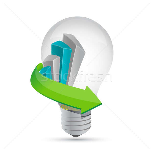 Business idea grafico illustrazione design bianco Foto d'archivio © alexmillos