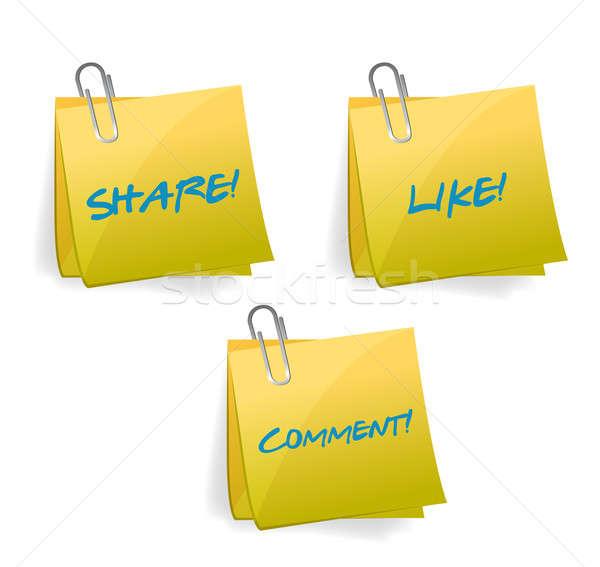 social media signs illustration design over white Stock photo © alexmillos