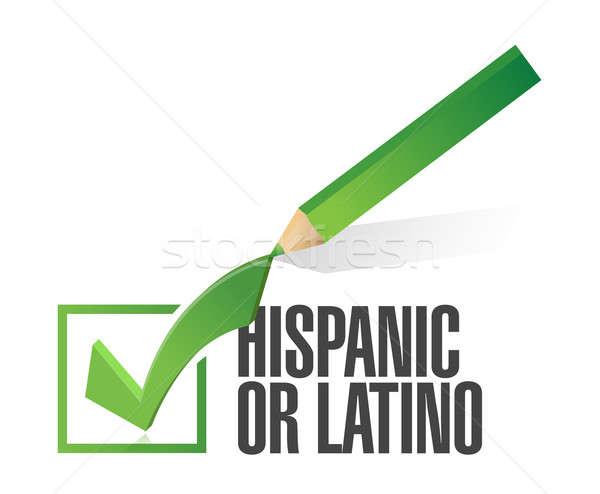 выбранный Hispanic проверить иллюстрация дизайна Сток-фото © alexmillos