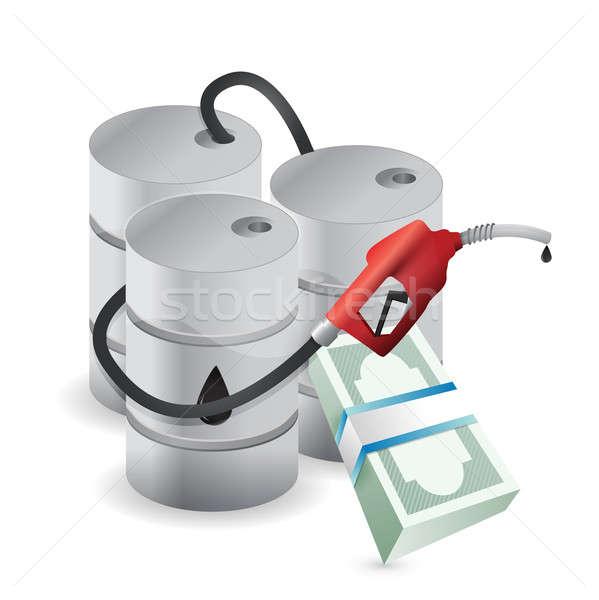 Oleju ceny działalności gospodarki ceny podpisania Zdjęcia stock © alexmillos