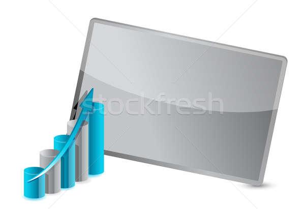 Stockfoto: Zakelijke · grafiek · frame · illustratie · ontwerp · financieren · corporate