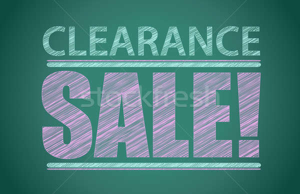 Clearance sale words written on the chalkboard Stock photo © alexmillos