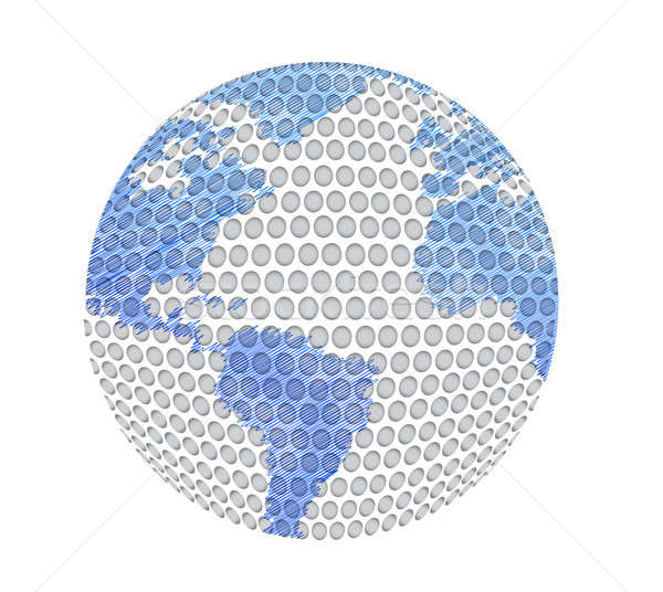 golf ball and map illustration design over white background Stock photo © alexmillos