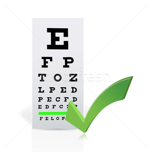 Medical Eye Chart with a checkmark. Good vision Stock photo © alexmillos