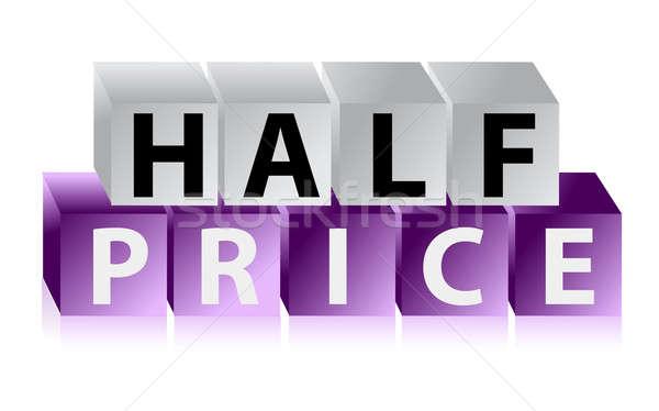 Half Price Button cubes Stock photo © alexmillos