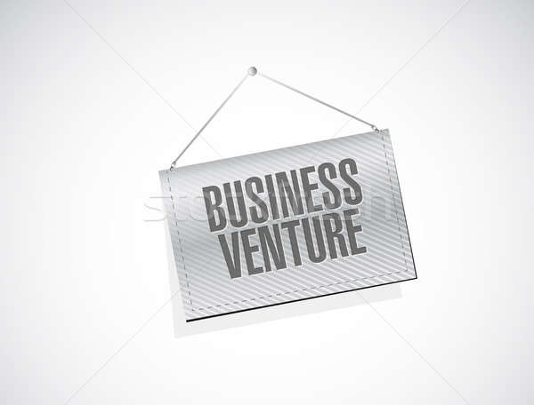business venture hanging sign concept Stock photo © alexmillos