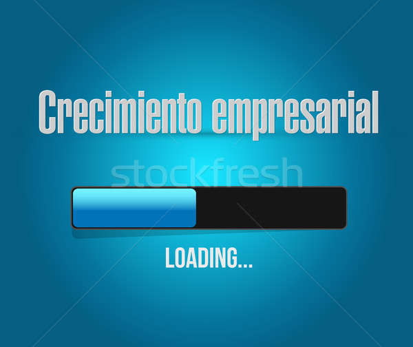 Business Growth loading bar sign in Spanish. Stock photo © alexmillos