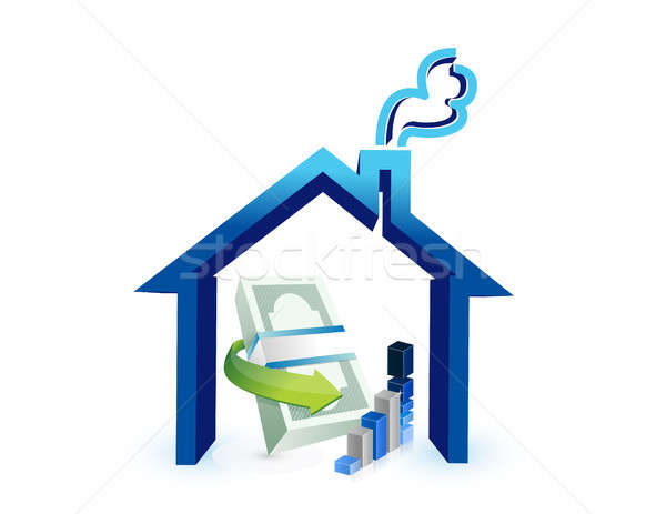 real estate business costs illustration design Stock photo © alexmillos