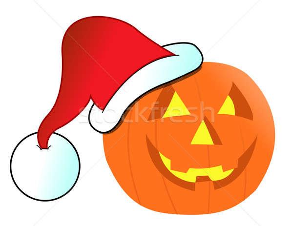 Christmas Jack-o-lantern illustration design Stock photo © alexmillos