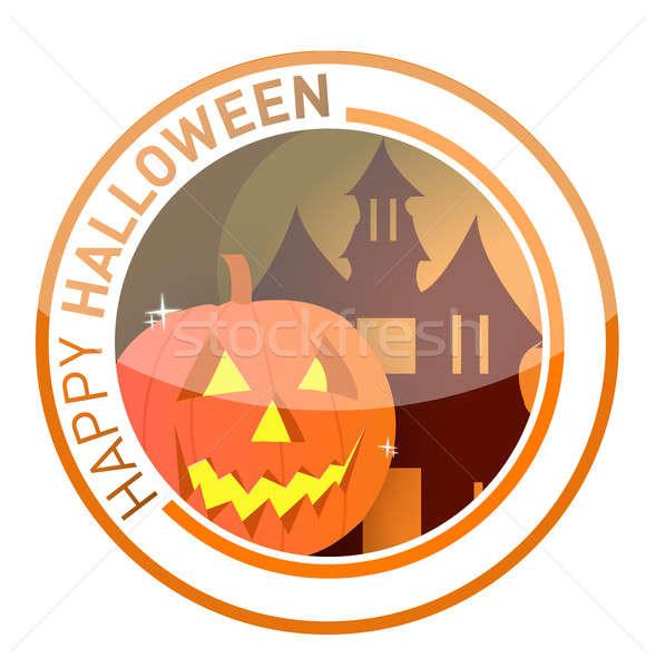 halloween seal illustration design over white Stock photo © alexmillos