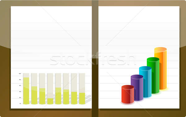 Business agenda illustration design over white Stock photo © alexmillos