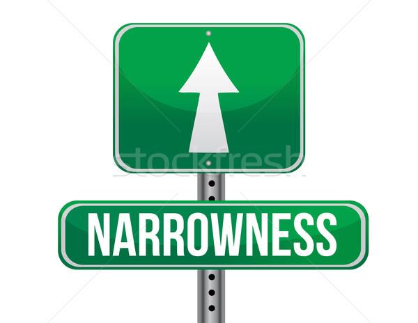 Narrowness road sign illustration design  Stock photo © alexmillos