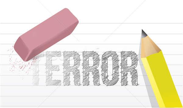 erasing terror concept illustration design over a white backgrou Stock photo © alexmillos