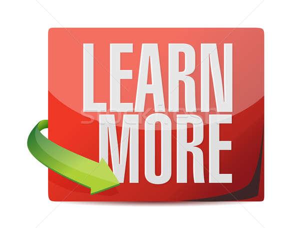 learn more sticker illustration design over white Stock photo © alexmillos