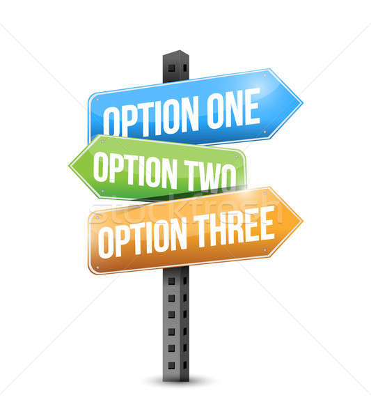 options road sign illustration design over a white background Stock photo © alexmillos