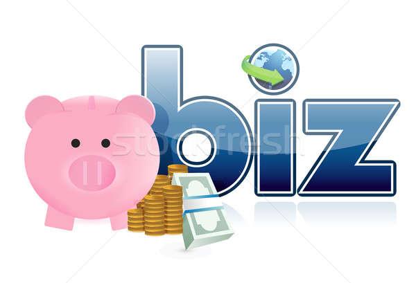 online business profits illustration design over a white backgro Stock photo © alexmillos