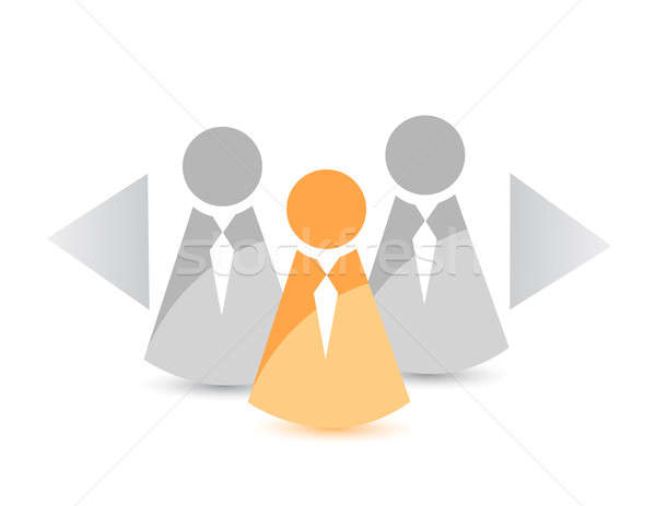 Candidate selection concept illustration design Stock photo © alexmillos
