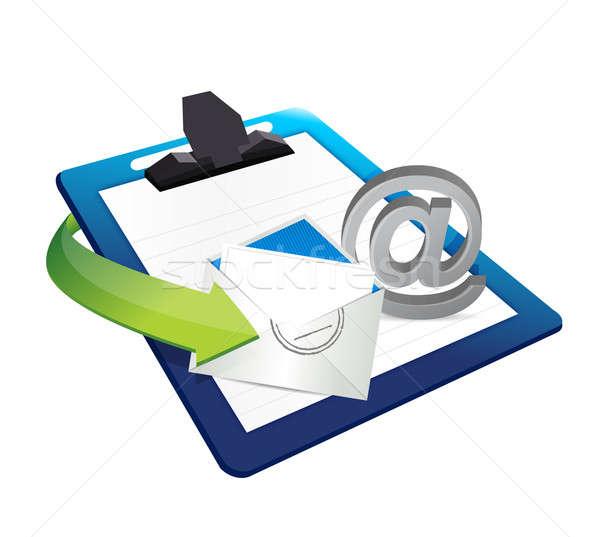буфер обмена бизнеса бумаги дизайна знак Сток-фото © alexmillos