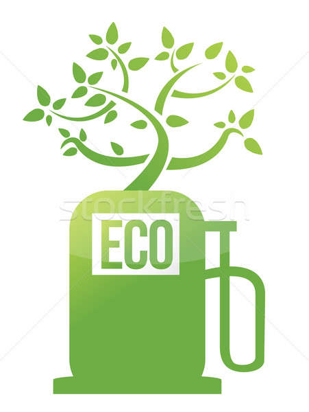 Eco tree gas pump illustration design Stock photo © alexmillos