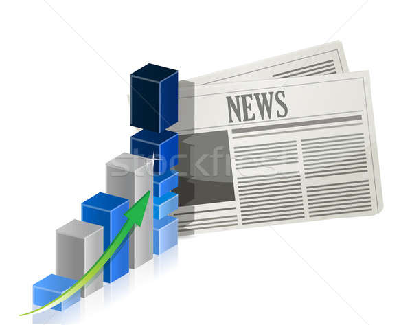Business news with bar graph Stock photo © alexmillos