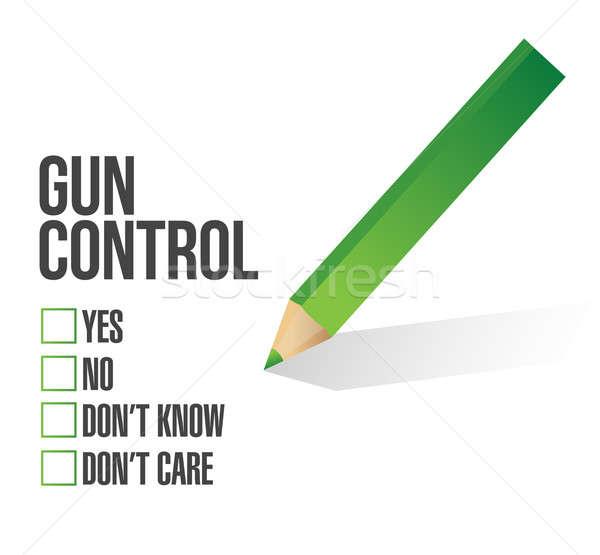 Gun control survey concept illustration design Stock photo © alexmillos