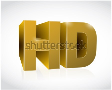 Or 3D hd texte illustration design Photo stock © alexmillos