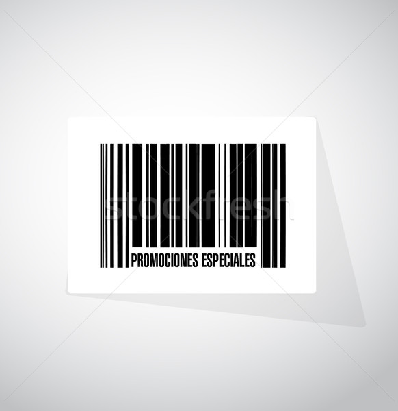special promotions in Spanish barcode sign concept Stock photo © alexmillos