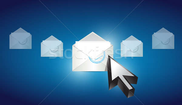 email envelope correspondence selected Stock photo © alexmillos