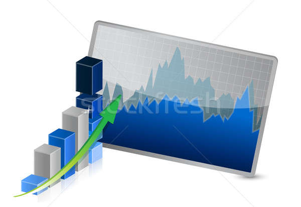 Business Graph with stocks showing profits Stock photo © alexmillos