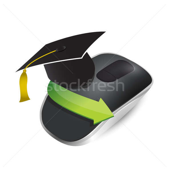 Stock photo: education concept with Wireless computer mouse