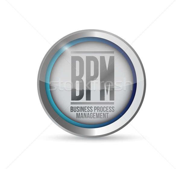 Bpm iş süreç yönetim düğme örnek Stok fotoğraf © alexmillos